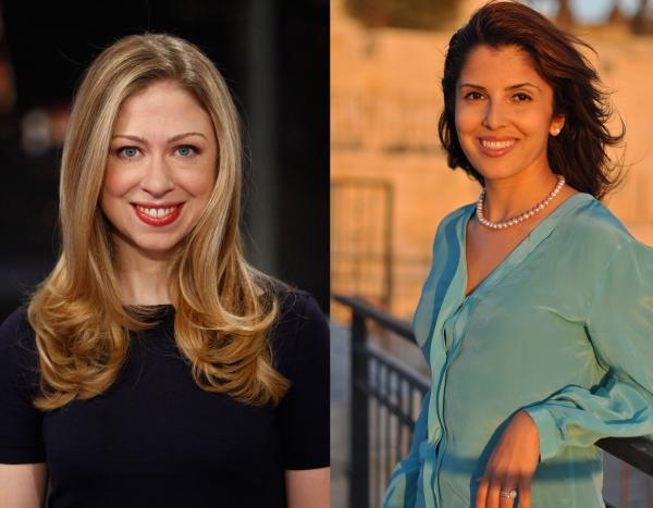 Chelsea Clinton and Atia Abawi