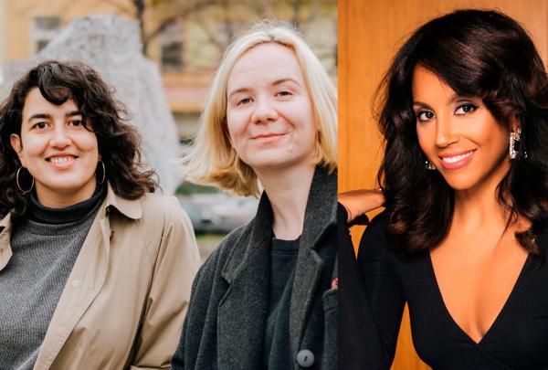 Mikaella Clements, Onjuli Datta and Tia Williams